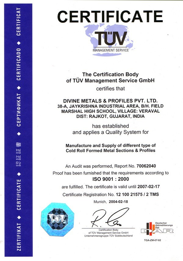 Divine Metals Profiles Pvt Ltd Big Divine Machines Pvt Ltd